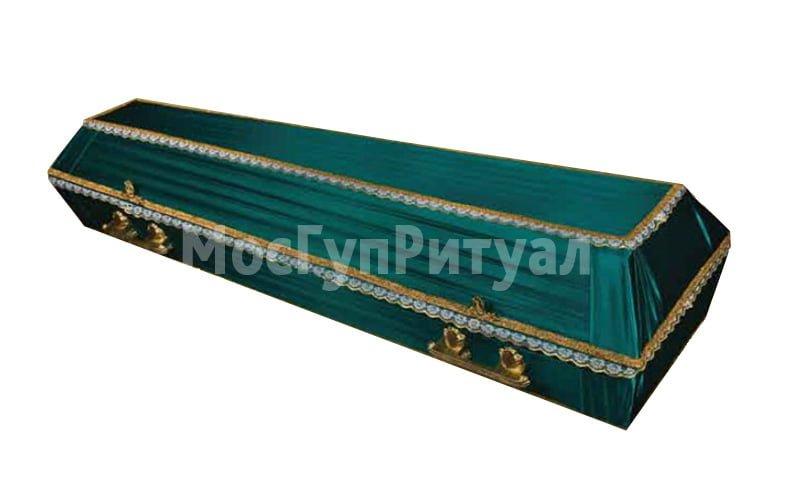 Гроб обитый тканью №10