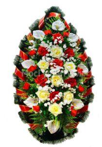 Венок ритуальный на похороны серия «простой» №20