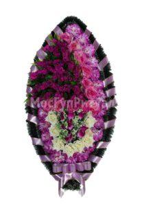 Венок ритуальный на похороны серия «стандартный» №25